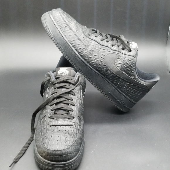 Nike Other - NIKE AIR FORCE 1 LOW LV8 BLACK CROC MEN'S SHOES